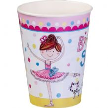 'Ballerina' Paper Cups by Ellen 8pcs